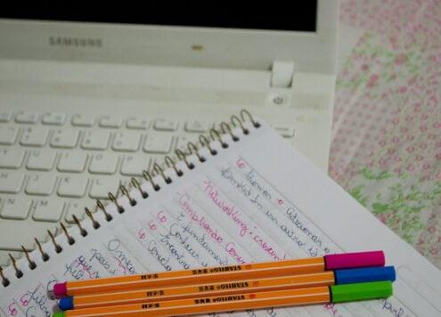dedicação estudando online
